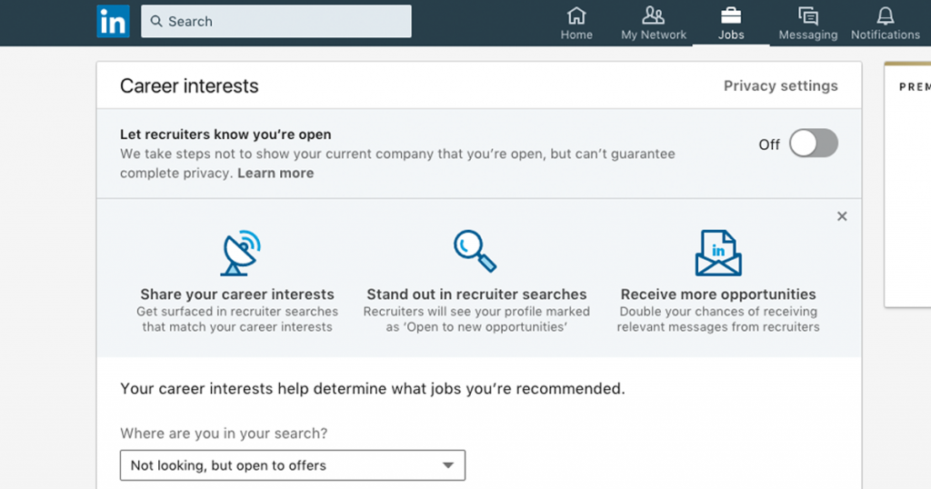 linkedin career interests