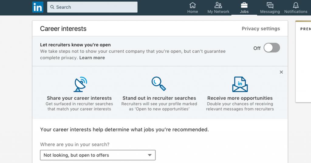linkedin career interests